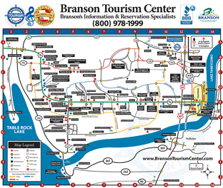 Branson Missouri Map