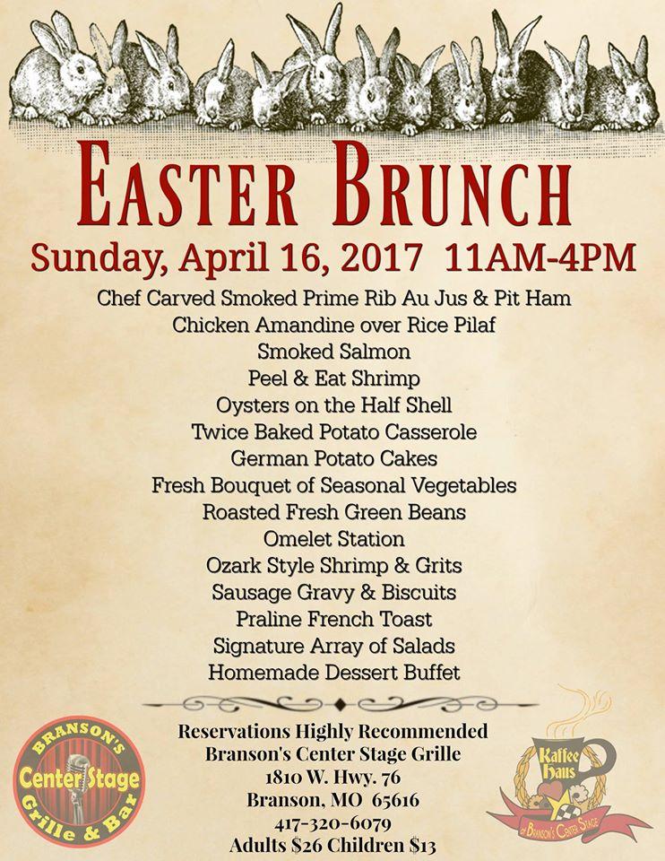 Easter events in branson branson tourism center for Easter brunch restaurant menus