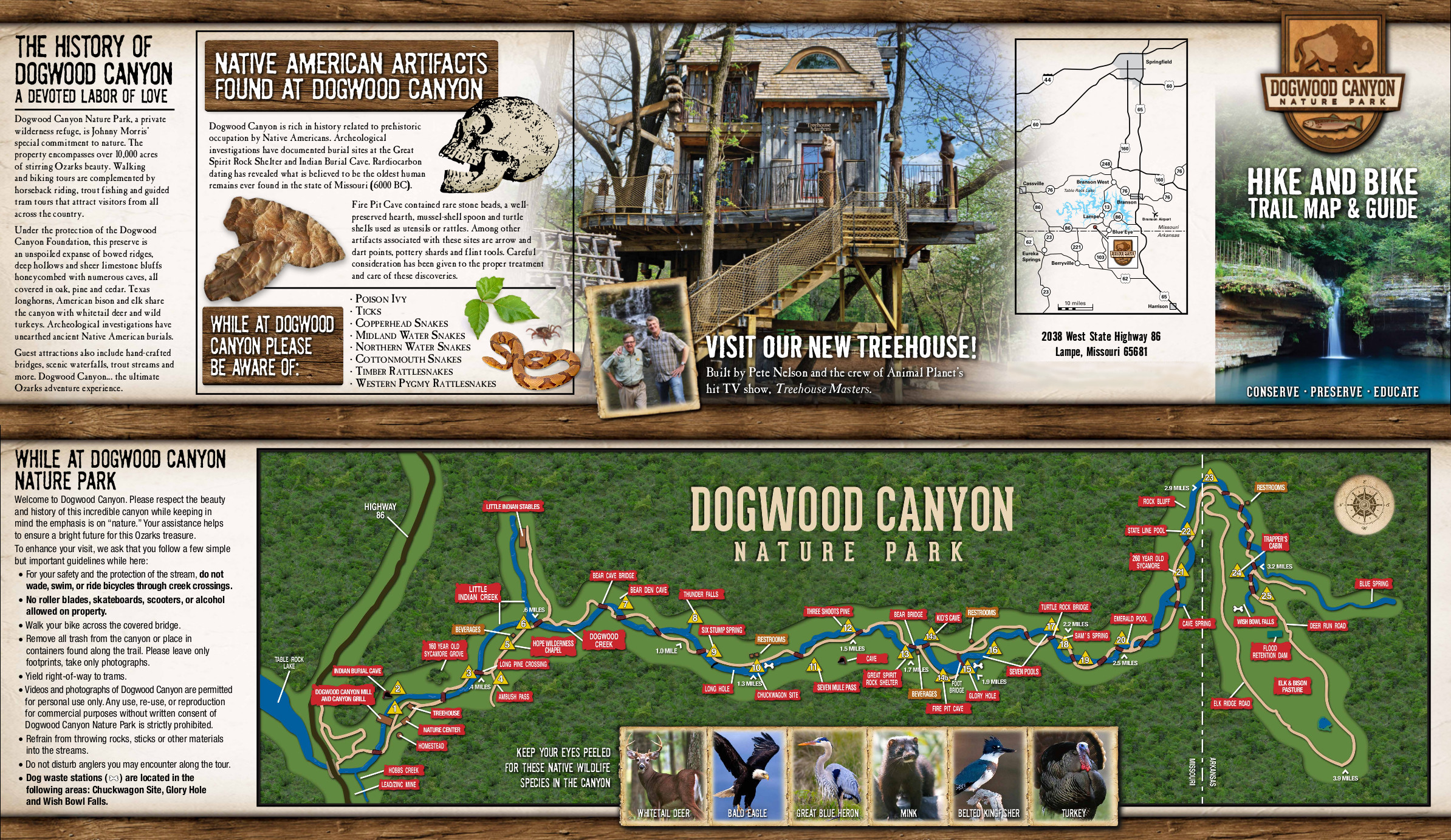 Dogwood Canyon Flyer and Trail Map