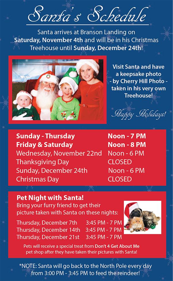 Santa Schedule
