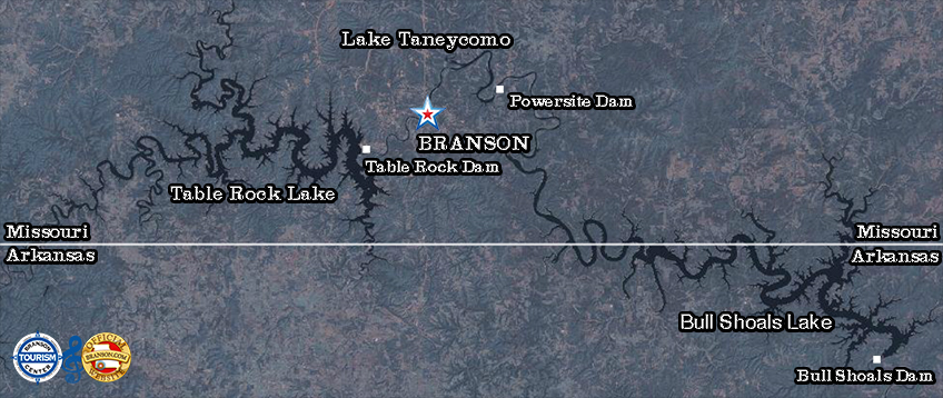 Branson is home to three beautiful lakes Branson Tourism Center