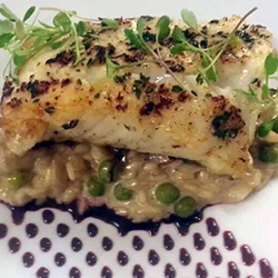 La Piazza Ristorante Italianio - Cod with Wild Mushroom Rissotto